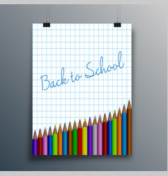 back to school typography design for poster vector image