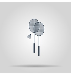 Badminton icon vector image