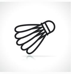 badminton shuttlecock thin line icon vector image