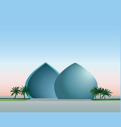 Baghdad iraq city skyline landmark al-shaheed vector