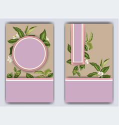 Banner template with citrus branches and flowers vector