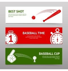 Baseball Banners Set vector