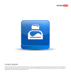 bed icon - 3d blue button vector image