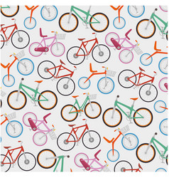 bicycle vehicle pattern background vector image