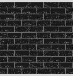 black old brick seamless vector image