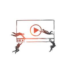 blogging vlog smm teamwork coworking vector image