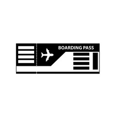 boarding pass ticket icon isolated on white vector image
