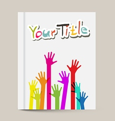 Book or Brochure Cover Design Template with vector