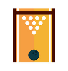 Bowling game recreational sport top view alley vector