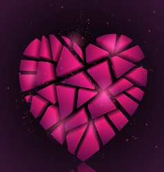 Broken heart vector