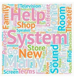 Buyer s Guide To Home Theater Systems text vector image