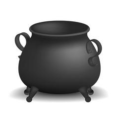 Cauldron mockup realistic style vector