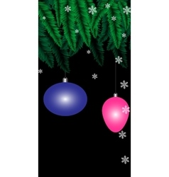 Christmas black background vector