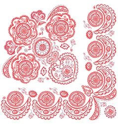 color pattern deco ornamental vector image vector image