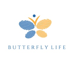 Concept of butterfly and man icon vector