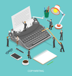 Copywriting flat isometric concept vector