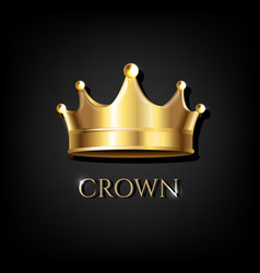 Crown with black background vector