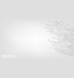 digital background black and white circuit board vector image