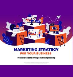 digital marketing poster vector image