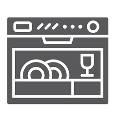 dishwasher glyph icon appliance and kitchen vector image
