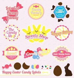 Easter Candy Labels and Icons vector image vector image