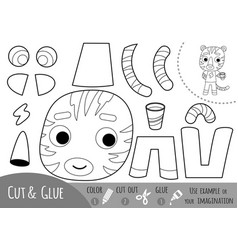 education paper game for children tiger vector image