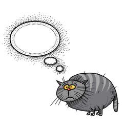 Fat cat-100 vector