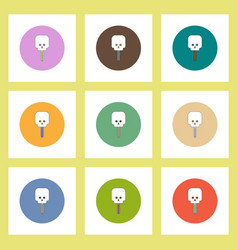 Flat icons halloween of skull candy concept vector