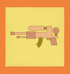 flat shading style icon kids water gun vector image