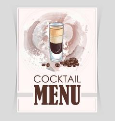 flyer cover menu vector image