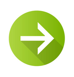 Forward arrow flat design long shadow glyph icon vector