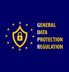 gdpr general data protection regulation concept vector image
