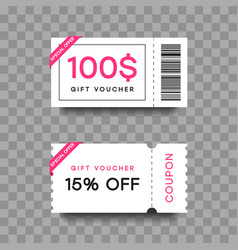 gift voucher template set discount fashion card vector image