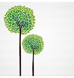 Green trees hand drawn vector image