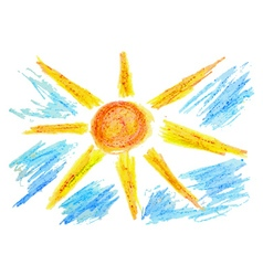 Hand Drawn Sun and Clouds3 vector