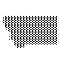 Hex-tile montana state map vector