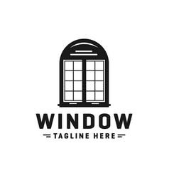 home logo window glass vector image