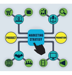 Infographic marketing strategy vector