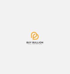 Initial letter b and b for buy bullion logo vector