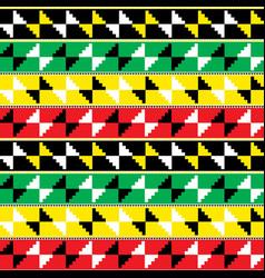 kente nwentoma cloth style seamless pattern vector image
