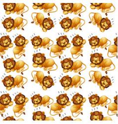 Lion sleeping seamless background vector