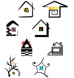logo elements house vector image