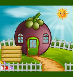 Mangosteen house in garden vector