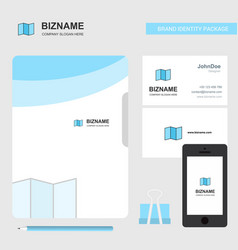 map business logo file cover visiting card and vector image