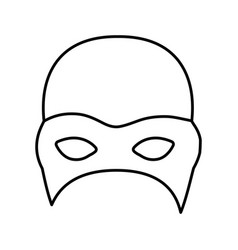 monochrome silhouette with fighter mask vector image