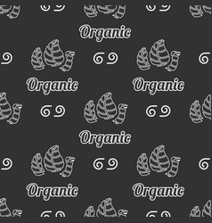 Organic food seamless pattern vector