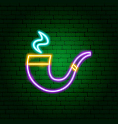 pipe neon sign vector image