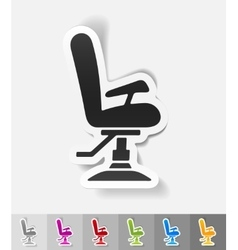 Realistic design element barber chair vector