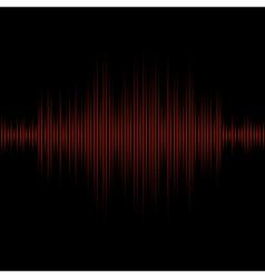 Red equalizer on black background vector