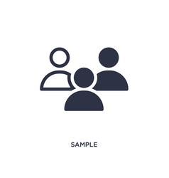 Sample icon on white background simple element vector
